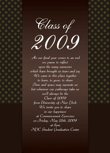 templates for graduation invitations sle graduation invitations template best template
