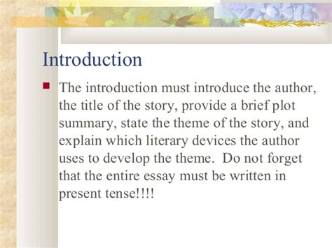 themes of the story eleven short story literary analysis criteria