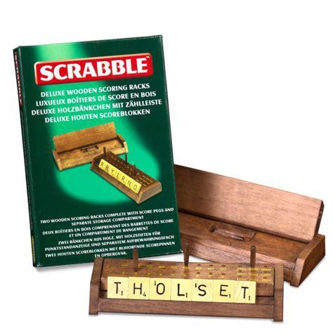 scrabble deluxe wooden scoring racks iwoot