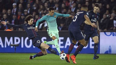 Resumé Du Match Psg Vs Barcelone 2017 Psg 4 0 Barcelone R 233 Sum 233 Du Match 14 02 17 Ligue Des