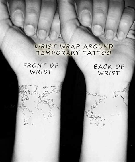 world tattoo on wrist world map wrist temporary globe atlas wrap by