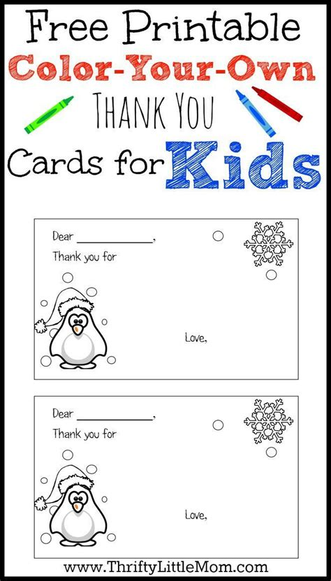 printable student postcards color your own printable thank you cards for kids free