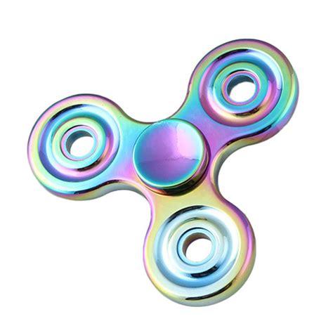 Fidget Spinner Rainbow fidget spinner rainbow 3d focus rainbow trio aluminium alloy
