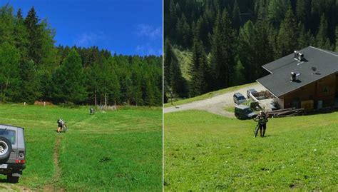 kleine berghütte alpencross 1 0 gotti titzy und renn schnecke auf dem weg