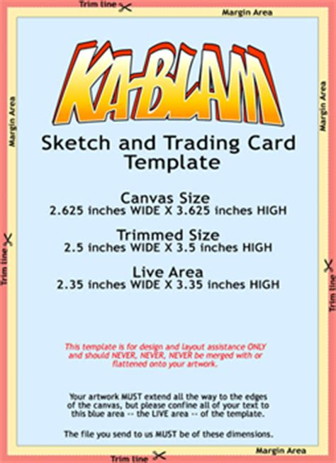 trading card size templates ka blam digital printing version 3 0