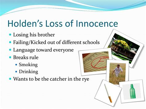 loss of innocence theme in catcher in the rye ppt the loss of innocence of youth in america 1950 s