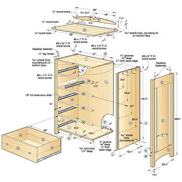 Bedroom Dresser Building Plans Woodwork Blueprints Wood Dresser Pdf Plans