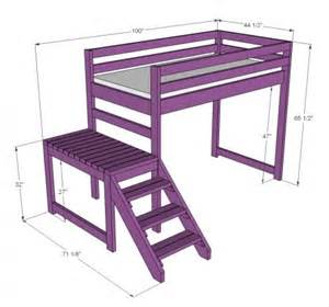 Loft Beds Building Plans Rehoboth Farm Diy Building A Loft Bed With Stairs A