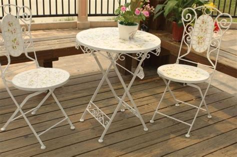 sedie in ferro battuto da giardino mosaico mobili da giardino tavoli e sedie da giardino in