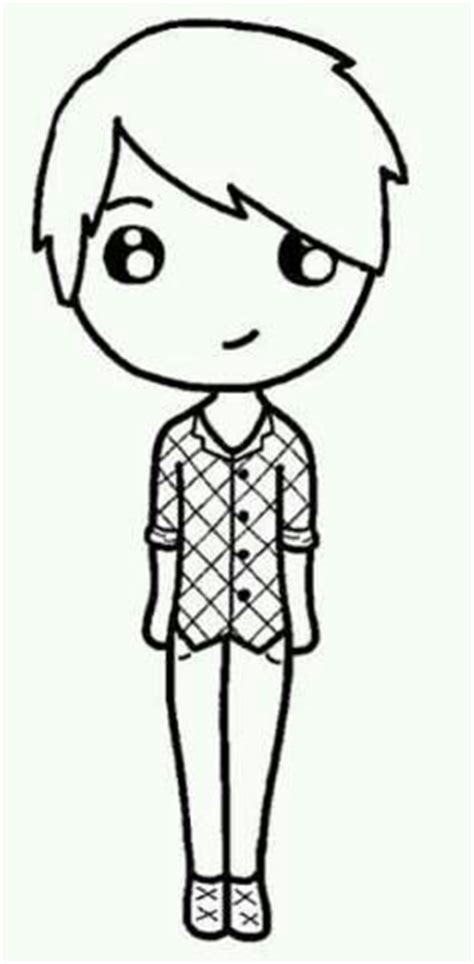 boy chibi template chibi boy outline pictures to pin on pinsdaddy