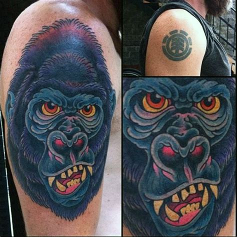 tattoo cover up upper arm 100 gorilla tattoo designs for men great ape ideas
