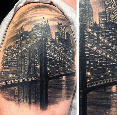 tattoo downtown nyc 60 new york skyline tattoo designs for men big apple ink