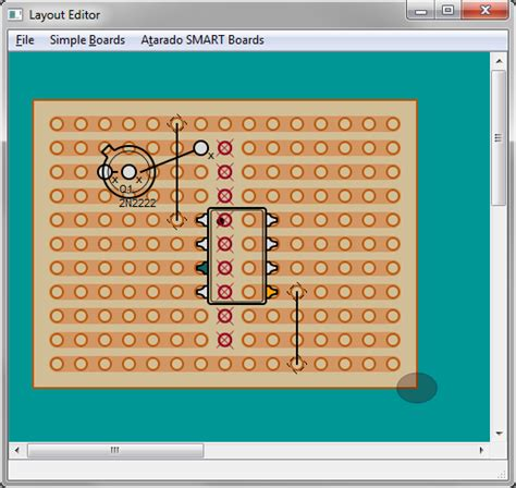 Layout Program Free stripboard veroboard matrix board design software