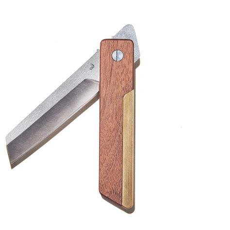brass knife higonokami walnut brass pocket knife with stainless