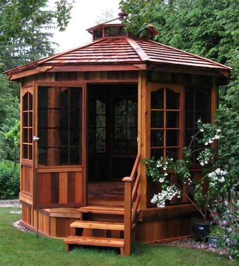 Backyard Sheds And Gazebos by 10 Best Ideas About Enclosed Gazebo On Garden