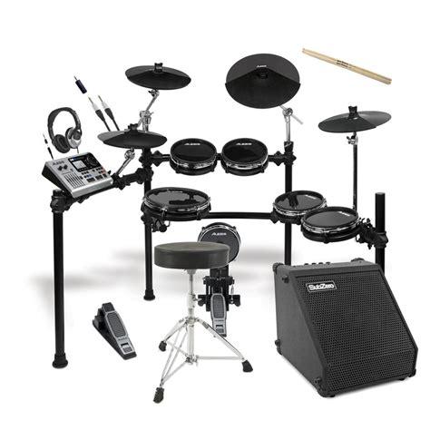 Alesis Dm10 X Kit Mesh Electronic Drum Kit With Mesh Heads alesis dm10 x studio kit mesh digital drum kit bundle at gear4music