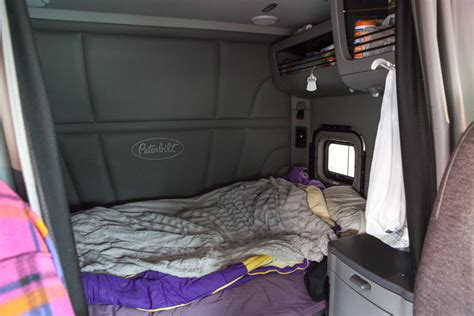 18 wheeler bed photos from inside the cabs of long distance truckers vice