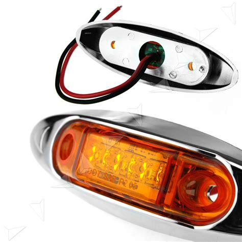 boat trailer side marker lights 4x3led 12 24v side marker lights indicators amber boat