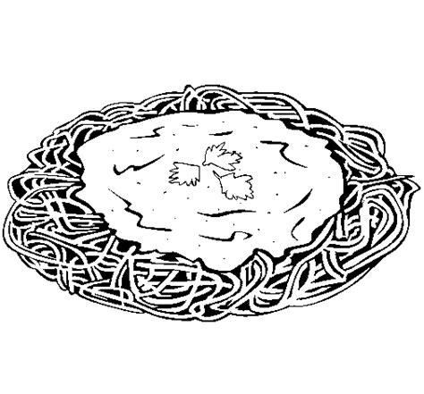 spaghetti with cheese coloring page