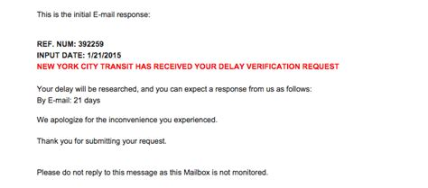 Delay Verification Letter Mta Mta Offers Verified Excuses For You To Give Your Thrillist