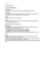 Bag Speech Outline by Outline Persuasive Sp Persuasive Speech Outline General Purpose To