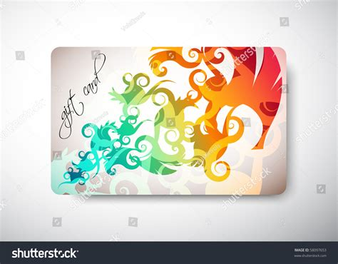 Gift Card Dimensions - gift card size 3 3 8 quot x 2 1 8 quot 86 x 54 mm stock vector illustration 58097653