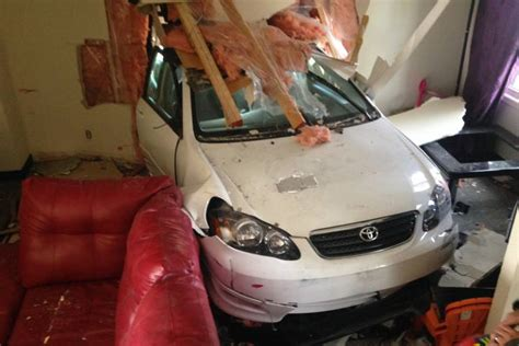 Car Crashes Into Living Room Nearly Hits Pregnant Mom | car crashes into living room nearly hits pregnant mom