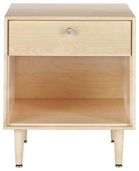 Maple Bedside Table American Modern Side Table In Maple Modern Nightstands