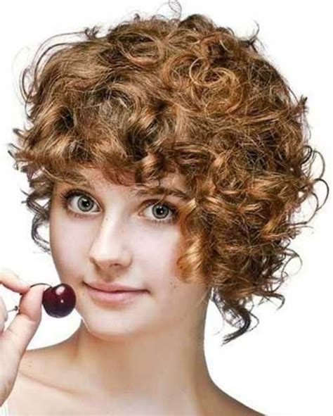asymmetrical haircuts short curly hair 15 short curly hair for round faces short hairstyles