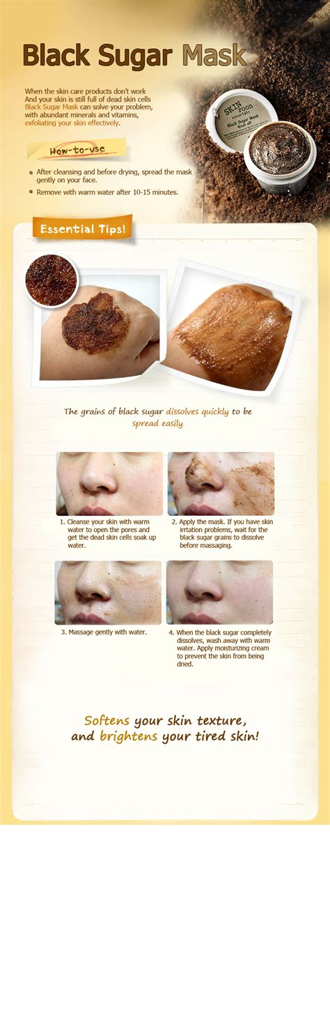 Skin Food Black Sugar Honey Mask Wash 100g skinfood black sugar mask 100g wash mask scrub peeling ebay
