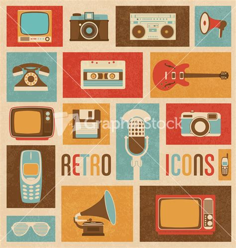 how to make a retro icon style using the appearance panel retro style media icons vintage elements nostalgic