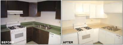 Refinished Kitchen Cabinets Before And After Kitchen Cabinet Refinishing Resurfacing Painting Cabinets