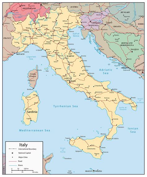 italy map with major cities geography detailed map of italy