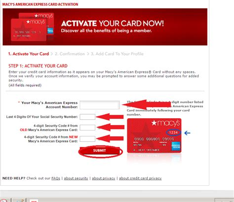 How To Use Macy S Gift Card Online - www macys com activate macy s store online card activation 1 click billpay