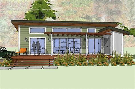 Modern Style House Plan 1 Beds 1 Baths 640 Sq Ft Plan Small Contemporary Cottage House Plans
