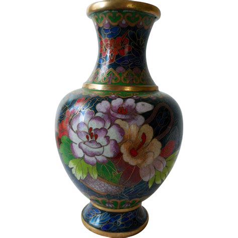 Vintage Cloisonne Vase Vintage Cloisonne Vase Enamel On Brass From Snatreasures