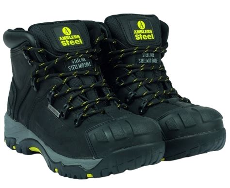 Caterpillar Cat Pt Black Yellow safety shoes caterpillar batam style guru fashion