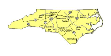 map of carolina major cities maps for design us states maps carolina state