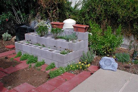 raised garden with cinder blocks raised garden bed concrete block vynnie the gardner