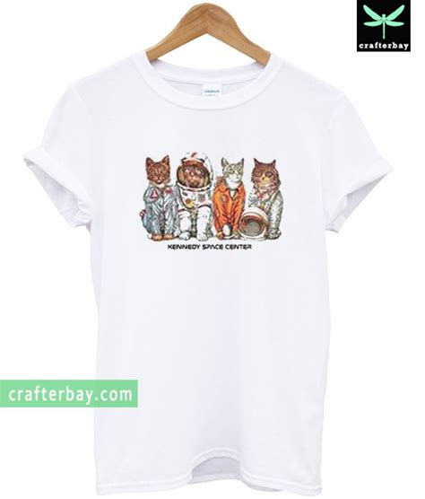 space cat astronaut t shirt