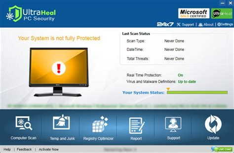 security software ultraheal pc security advanced pc security software