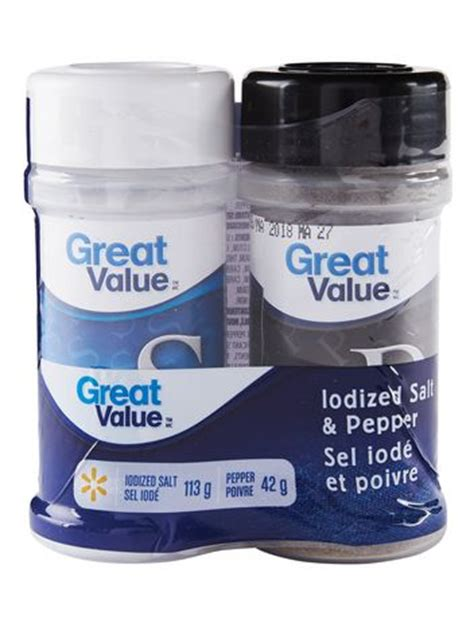 salt ls walmart canada great value iodized salt pepper walmart canada