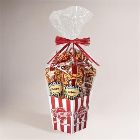 popcornopolis 4 cone premium popcorn gift basket world - Popcorn Gifts For