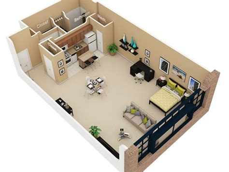 500 Sq Ft Studio Floor Plans by Open Loft
