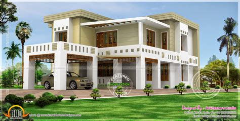 flat roof house plans flat roof house in 389 square yards kerala home design and floor plans