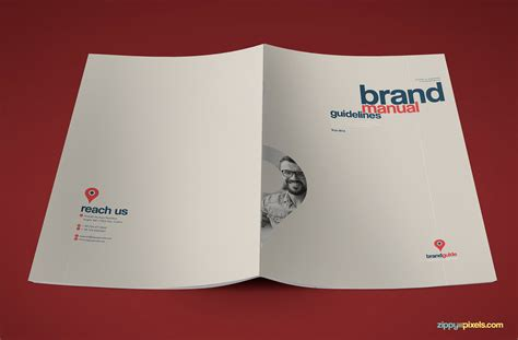 brand guidelines template artistic brand identity manual template brand book