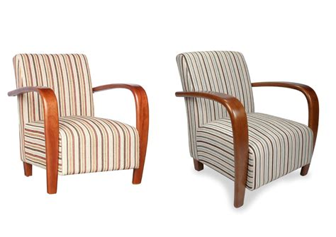 blue striped armchair restmore regancy striped fabric armchair walnut gold