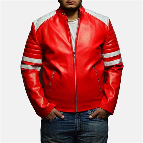 red leather motorcycle jacket mens monza red leather biker jacket