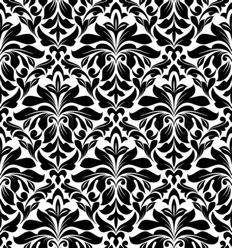 vector background pattern black and white damask seamless pattern for background design in white and