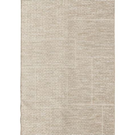 casual area rugs orian rugs squared sand casual beige 7 ft 7 in x 10 ft 10 in indoor outdoor area rug 379358
